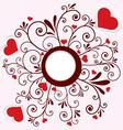 Heart stickers swirl frame vector image