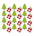 merry christmas decorative pattern icons vector image