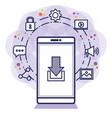 social media technology digital smartphone vector image