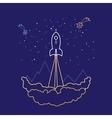Space Rocket Line Style Design vector image