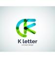 Letter k logo vector image