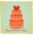 Valentines Cake on Vintage Background vector image