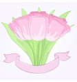 hand drawing tulips vector image vector image