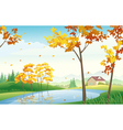 Fall landscape vector image
