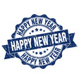 happy new year stamp sign seal vector image