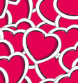 valentines hearts seamless background vector image vector image
