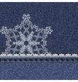 denim lace snowflake vector image