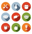 Tableware Icons set vector image