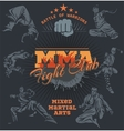 MMA Labels - Mixed Martial Arts Design vector image