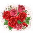 roses bouquet vector image