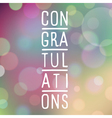 slogan bokeh congratulations purple vector image