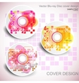 cd cover design editable templates vector image vector image