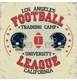 California football vintage t-shirt graphics vector image