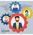Concept successful team vector image