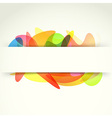 Bright colorful abstract background template vector image