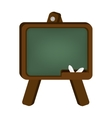 chalk board school vector image
