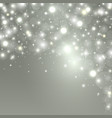 christmas background with lights sparkle stars vector image