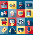 digital red blue cinema vector image