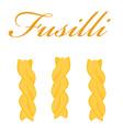 Fusilli pasta vector image