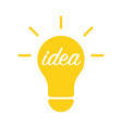 light bulb and idea concept vector image