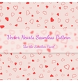 Red hearts seamless pattern valentines texture vector image