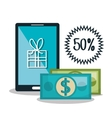 electronic commerce flat line icons vector image