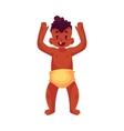 Cute little baby boy dancing happily vector image