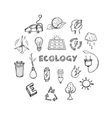 Ecology Hand Drawn Icons Set vector image