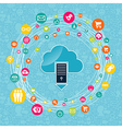 Cloud computing network idea vector image