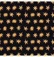 golden stars seamless pattern on black background vector image vector image