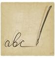 fountain pen sketch vector image