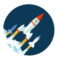 Rocket icons Start Up and Launch Symbol for New vector image