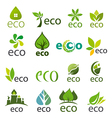 biggest collection of logos eco vector image vector image