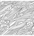 waves doodle seamless vector image vector image