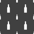 bottle icon sign Seamless pattern on a gray vector image