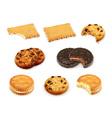 Cookies set vector image