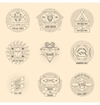 Bakery and pastry hipster vintage logo set vector image vector image