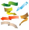 origami navigation arrows vector image
