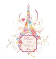 Eiffel tower romantic background vector image