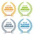 awards winning and laurel leaves set vector image