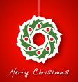 Christmas garland applique vector image