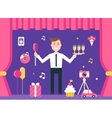 Event Manager on Stage vector image