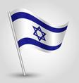 flag israel vector image