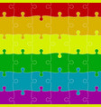 lgbt pride background colored puzzles pieces vector image