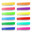 Set of color sticky notes stickers isolated vector image