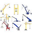 set of Construction crane vector image