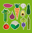 Vegetable Icons vector image