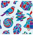 Xmas seamless pattern vector image