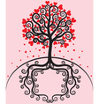 Tree with leaves shaped heart vector image