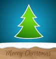 Paper Christmas tree with wooden board vector image vector image